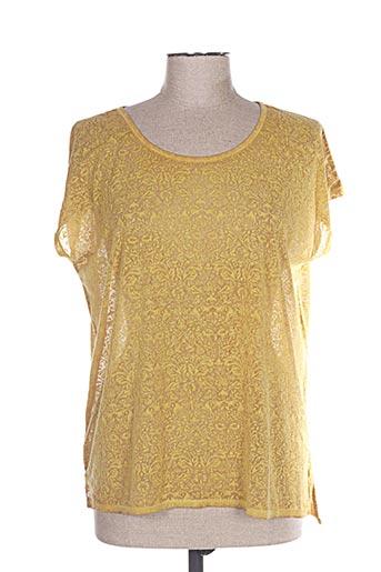 T-shirt manches courtes jaune LEE COOPER pour femme