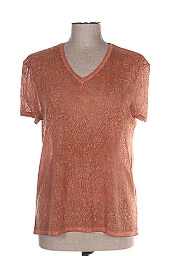T-shirt manches courtes orange LEE COOPER pour femme