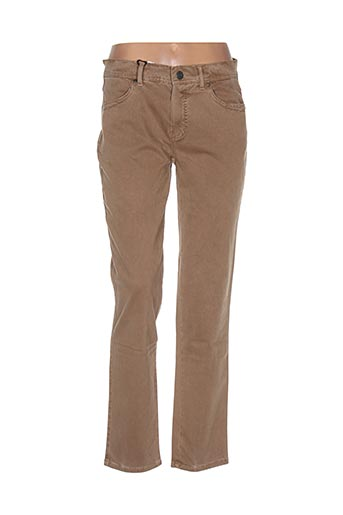 Pantalon casual marron ANGELIKA pour femme