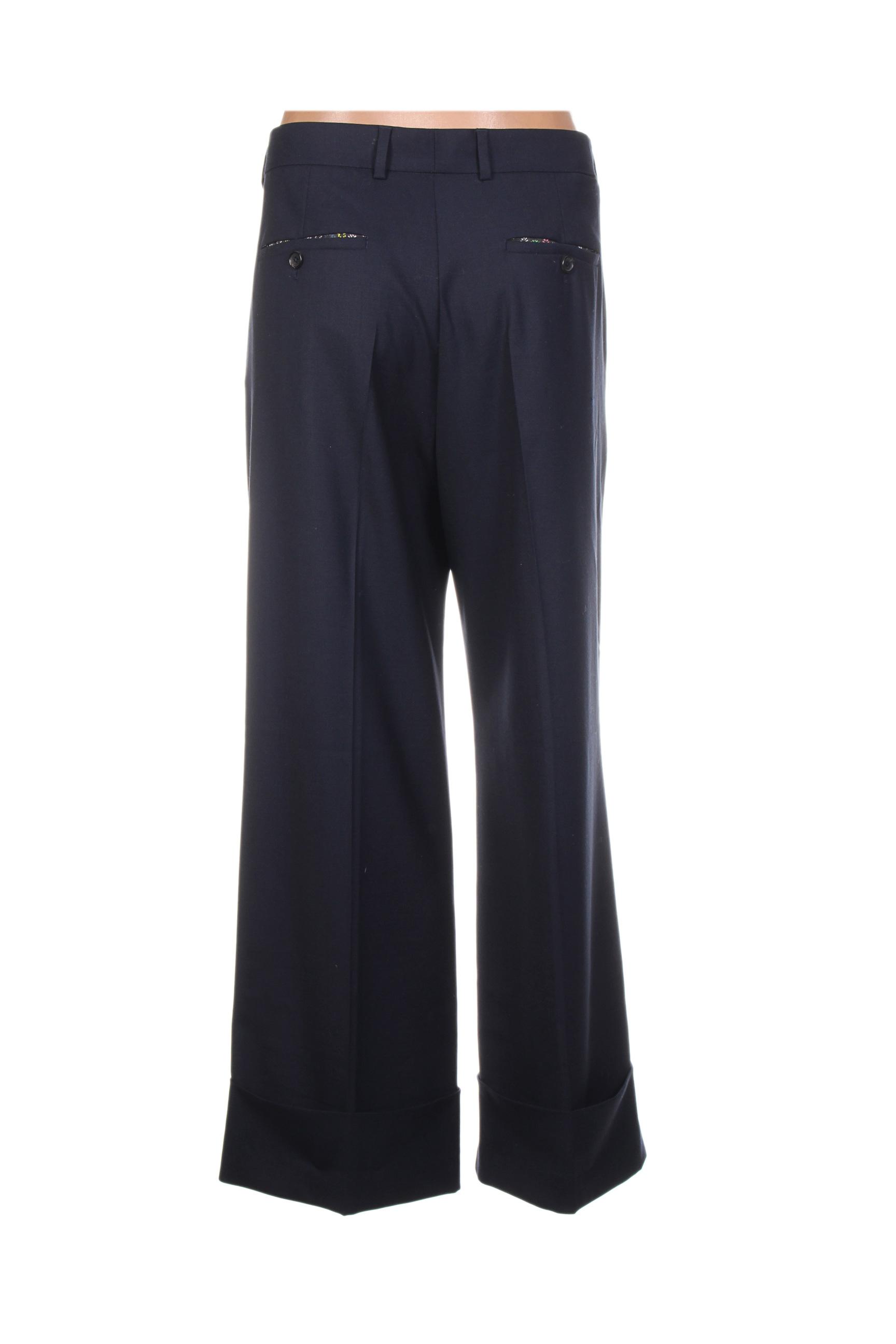 Paul Smith Pantalons Citadins Femme De Couleur Bleu En Soldes Pas Cher 1275247-bleu00