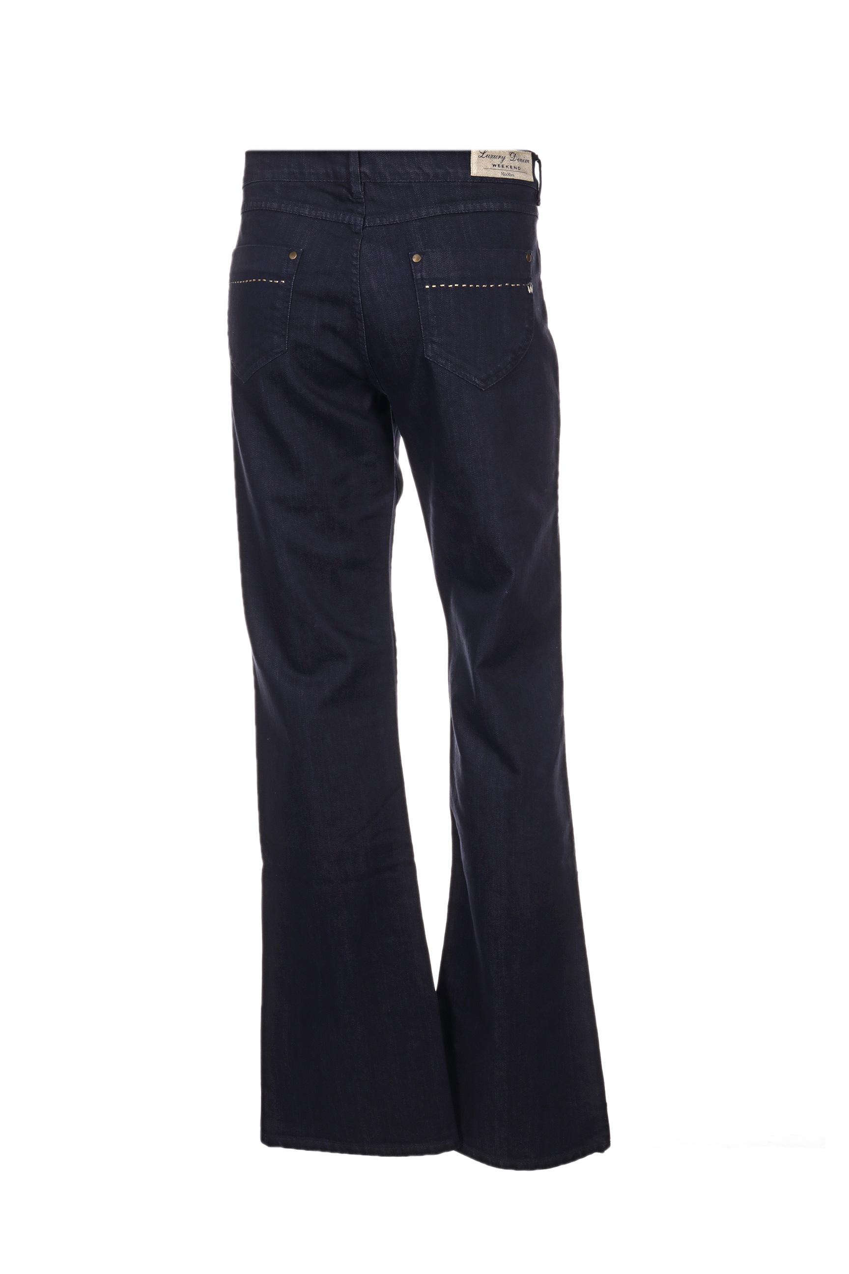 Weekend Maxmara Pantalons Decontractes Femme De Couleur Bleu En Soldes Pas Cher 1276447-bleu00