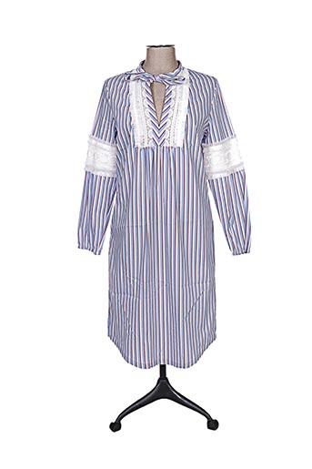 Robe mi-longue bleu IVI pour femme
