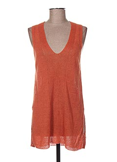 Pull tunique orange NICE THINGS pour femme