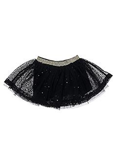 Jupe mi-longue noir 3 POMMES pour fille