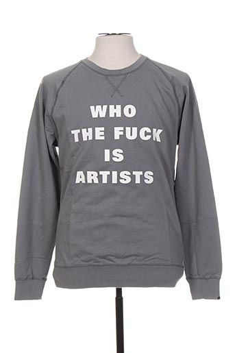 Sweat-shirt gris ARTISTS pour homme