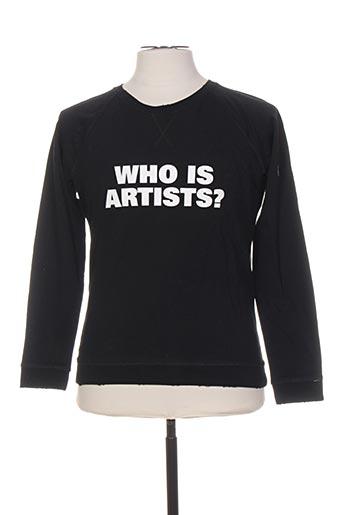 Sweat-shirt noir ARTISTS pour homme