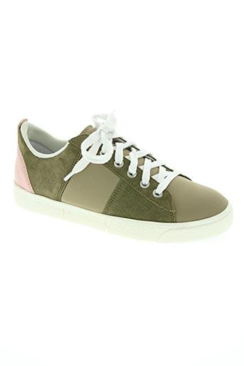 wos (walk on scales) chaussures femme de couleur vert