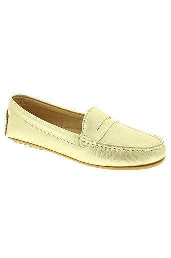 un'chrome chaussures femme de couleur jaune