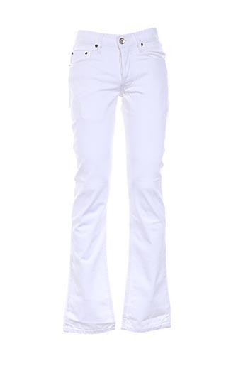 Jeans coupe droite blanc COSTELLO pour homme