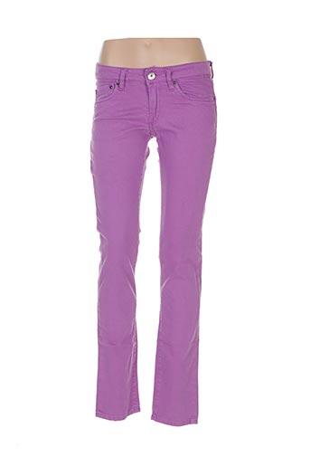 Pantalon casual violet COSTELLO pour femme