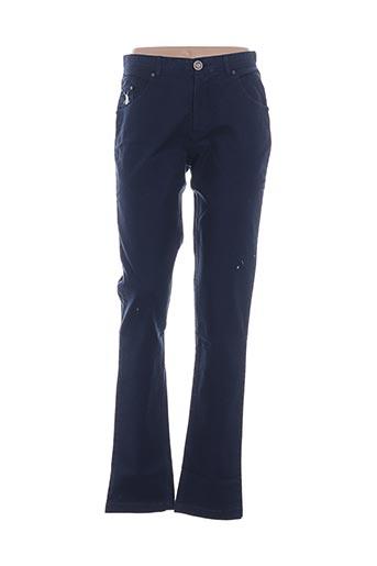 Pantalon casual bleu VESTIAIRES PRINCIPAUTE CANNOISE pour homme