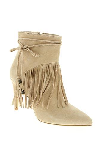basta cosi chaussures femme de couleur beige