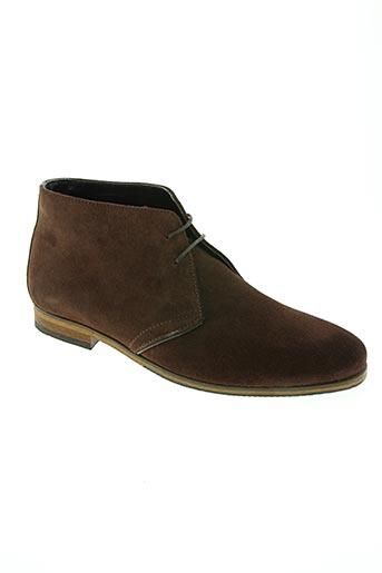 les fleches de phebus chaussures homme de couleur marron
