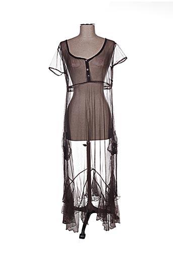 Robe longue marron CHADIA pour femme