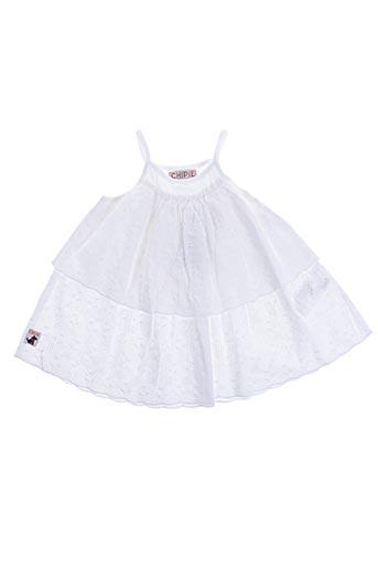 Robe mi-longue blanc CHIPIE pour fille