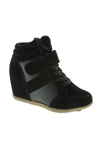 lea la fripouille chaussures fille de couleur noir