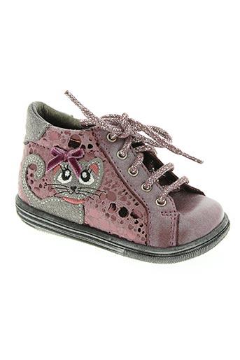bopy chaussures fille de couleur rose