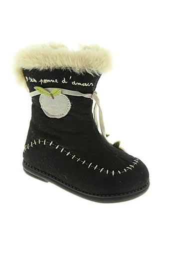 sucre d'orge chaussures fille de couleur noir