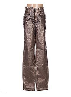 Pantalon casual marron COUTURIST pour femme
