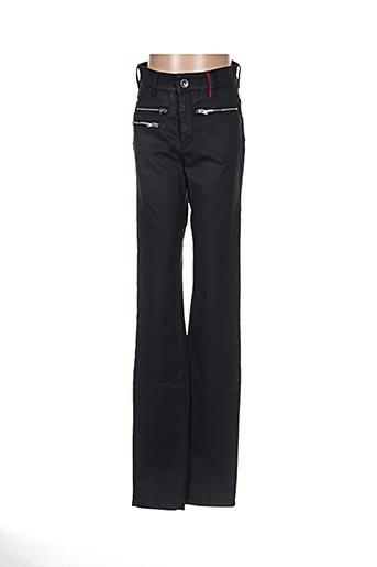 Jeans coupe slim noir COUTURIST pour femme