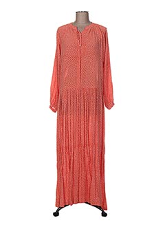Robe longue orange BAKKER pour femme