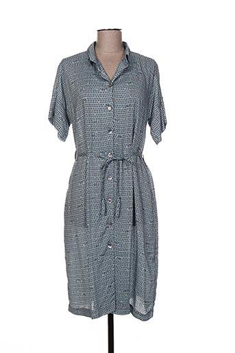 Robe mi-longue bleu BRIC-A-BRAC pour femme