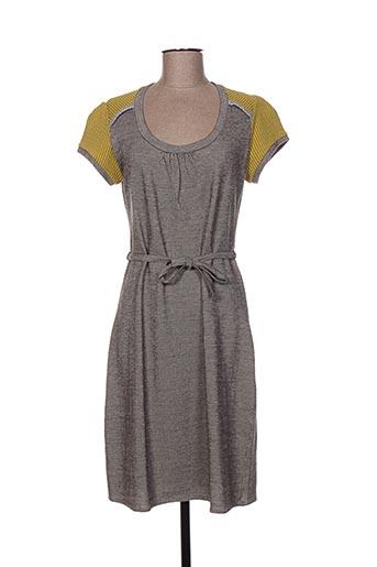 Robe mi-longue gris GAËLLE BARRE pour femme
