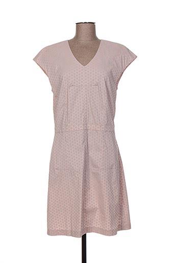 Robe mi-longue rose CALIBAN pour femme