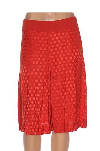 Jupe mi-longue rouge GAËLLE BARRE pour femme