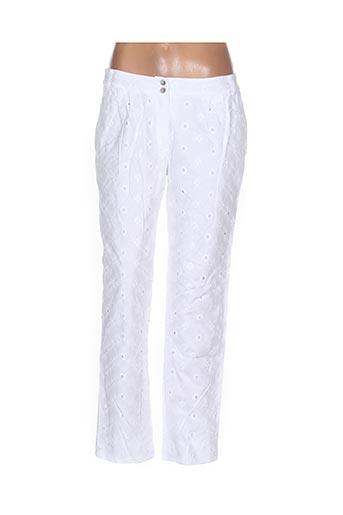 Pantalon 7/8 blanc GAËLLE BARRE pour femme