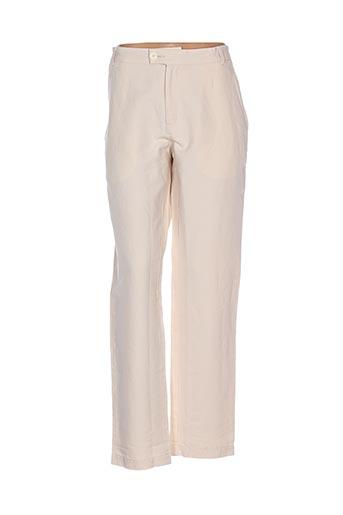 Pantalon casual beige BRIC-A-BRAC pour femme