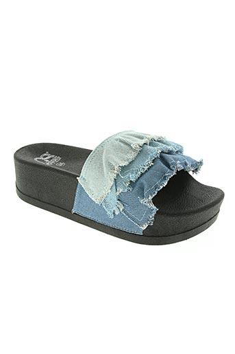 cassis cote d'azur chaussures femme de couleur bleu