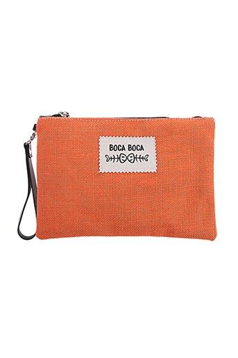 Pochette orange BOCA BOCA pour femme