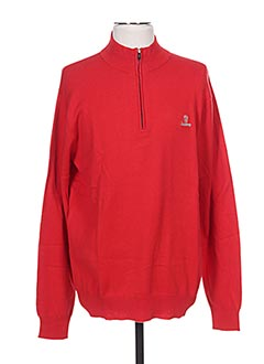 Pull col cheminée rouge ARISTOW pour homme