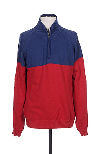 Pull col cheminée rouge SERGE BLANCO pour homme