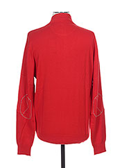 Pull col cheminée rouge ARISTOW pour homme seconde vue