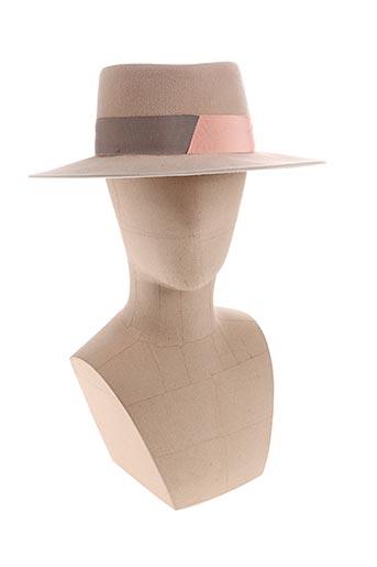 Chapeau beige D'ESTRËE pour femme