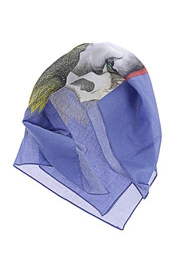 Foulard bleu ANNEE pour femme