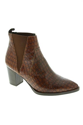 amaru chaussures femme de couleur marron