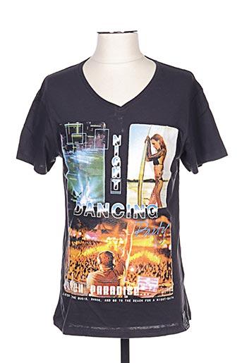 T-shirt manches courtes gris GIL D'AURAY pour homme