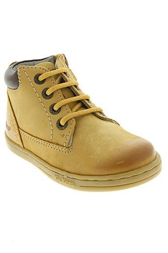 kickers chaussures garçon de couleur beige