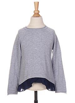 Pull tunique gris LOSAN pour fille