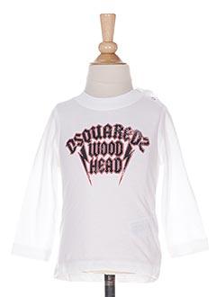 T-shirt manches longues blanc DSQUARED pour garçon