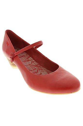 camper chaussures femme de couleur rouge