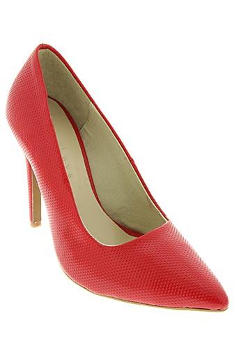 loca loca chaussures femme de couleur rouge