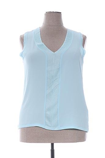 Top bleu ANTONELLE pour femme
