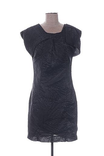 Robe mi-longue noir GESTUZ pour femme