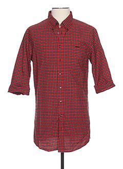 Chemise manches longues rouge DSQUARED pour homme