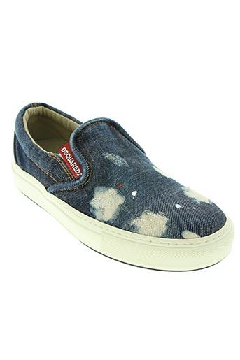 dsquared chaussures homme de couleur bleu