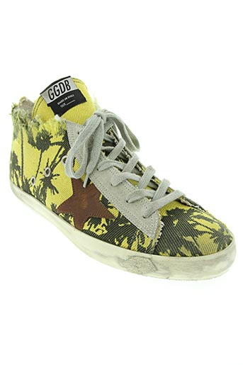 golden goose deluxe brand chaussures unisexe de couleur jaune